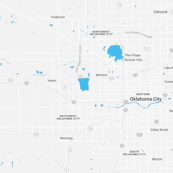 circle map of oklahoma metro